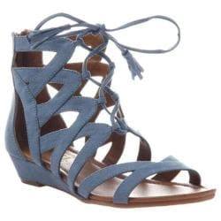 Women's Madeline Saturate Gladiator Sandal Blue Textile 26993567