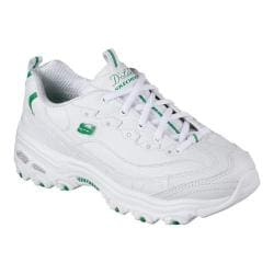 Women's Skechers D'Lites With It Sneaker White/Green 27032379