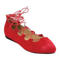 Women's Westbuitti Nina-3 Strappy Flat Red 27123598