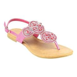 Women's Wild Diva Plum-SU Thong Sandal Fuchsia Faux Leather 27123844