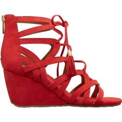 Women's Kenneth Cole Reaction Cake Pop Wedge Sandal Red Microsuede 27149353