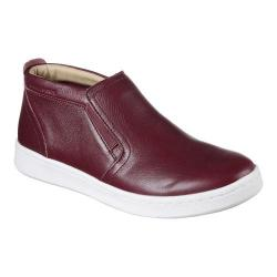Women's Mark Nason Los Angeles Classic Cup Uptown Mid Top Slip-On Sneaker Burgundy Leather
