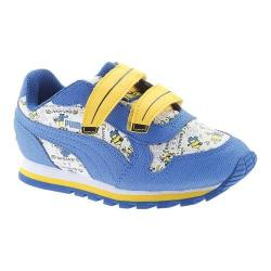Children's PUMA Minions ST Runner V Sneaker Puma White/Lapis Blue/Minion Yellow 27681472