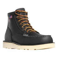 Men's Danner Bull Run Moc Toe 6in Cristy Steel Toe Boot Black Oiled Full Grain Leather 28330167