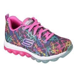 Girls' Skechers Skech-Air Color Chaos Sneaker Charcoal/Multi 28655905