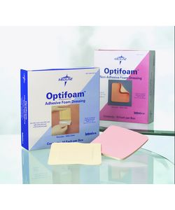 Medline Optifoam Dressing Adhesive 4-inchx4-inch (Case of 100)