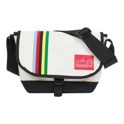 Manhattan Portage Rainbow Stripes Nylon Jr. Messenger Bag Ivory/Black 28908634