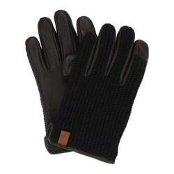 Men's Ben Sherman Knit/Leather Driving Glove Jet Black 29138566