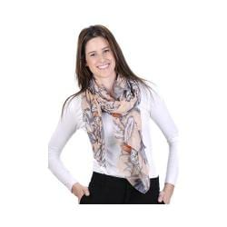 Women's J. Furmani Designer Collection Vibrant Wrap/Scarf Peach 29481147