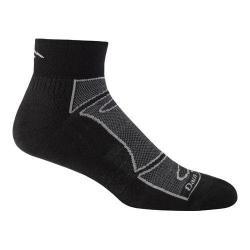 Men's Darn Tough Vermont 1/4 Sock Ultra-Light Cushion 1723 (2 Pairs) Black/Gray 29776280