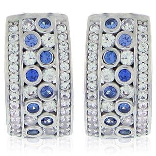 Suzy Levian Sapphire and Diamond in Sterling Silver and 18K Gold Earring 33447618