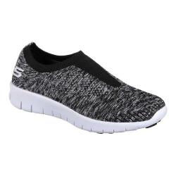 Women's Skechers Bright Idea Easy Going Slip-On Sneaker Black/White 29891728