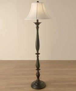 Turned Base Floor Lamp