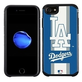 MLB Licensed Slim Hybrid Texture Case for Apple iPhone 6 / 6S / 7 / 8 - Los Angeles Dodgers 34287014