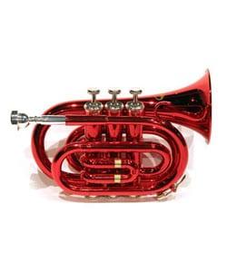 School Band Red Pocket Trumpet