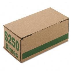 Corrugated Green Coin Storage and Shipping Boxes (Case of 50)