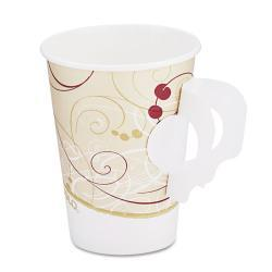 SOLO Symphony Design Hot 8 oz. Handle Drink Cups (Case of 1000) 5945822