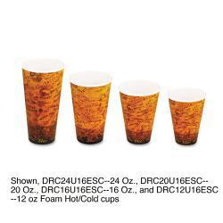 Dart Fusion Escape 24 oz Foam Hot/Cold Cups (Case of 500) 5948737