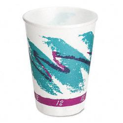 SOLO 12-oz Trophy Symphony Design Foam Hot/Cold Drink Cups (Case of 1,000) 5949193
