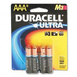 Duracell Ultra AlkalineAAA Batteries (Pack of 8)