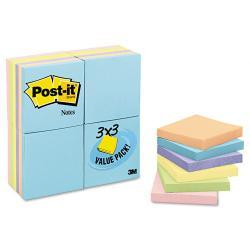 Post-it 3 x 3 Pastel Notes Value Pack, 50-Sheet Pads (Case of 24)