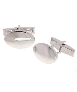 Mondevio Sterling Silver Oval Cuff Links