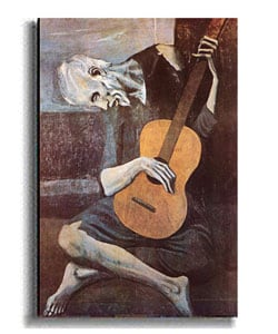 Picasso The Old Guitarist Stretched Canvas Art