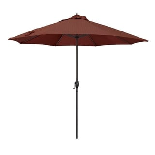 Magnolia Garden 9' Auto-Tilt Crank Lift Dark Bronze Umbrella with Olefin Fabric - Terrace Adobe 36864824
