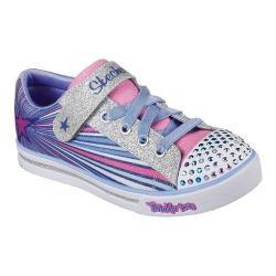 Girls' Skechers Twinkle Toes Sparkle Glitz Sparkle Starz Sneaker Blue/Multi 32076438