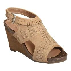 Women's Aerosoles Waterfront Wedge Sandal Light Tan Suede/Leather 32194079