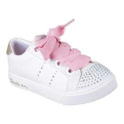 Girls' Skechers Twinkle Toes Twinkle Breeze 2.0 Sidestars Sneaker White/Pink 32307100