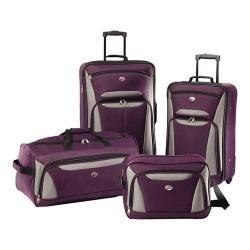 American Tourister Fieldbrook II 4Pc Set Purple/Grey 32519013