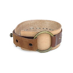 Leather Sleek Caramel Bracelet (Indonesia)
