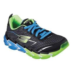 Boys' Skechers Skech-Air 4 Sneaker Black/Blue/Lime 32875997