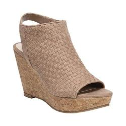 Women's Fergalicious Rasta Wedge Slingback Nude Oiled Fabric 33018421