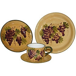 Sonoma Collection Hand-painted 16-piece Dinnerware Set 2770494