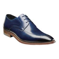 Men's Stacy Adams Ballard Plain Toe Oxford 25187 Ink Blue Smooth Leather 33125449
