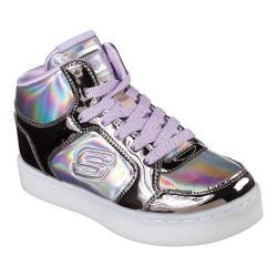 Girls' Skechers S Lights Energy Lights Shiny Bright High Top Gun Metal/Purple 33238545