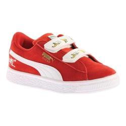 Children's PUMA Minions Suede V PS Sneaker High Risk Red/PUMA White 33781717