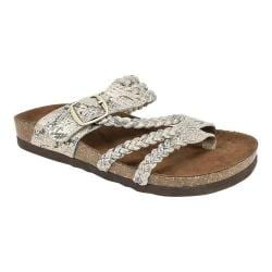 Women's White Mountain Hayleigh Toe Loop Sandal Gold Exotic 33806417