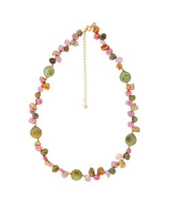 Glitzy Rocks Gold over Silver Freshwater Pearl 16-inch Necklace (6-10 mm)