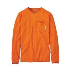 Men's Timberland PRO Base Plate Blended Long Sleeve T-Shirt - Regular Burnt Orange 35510918