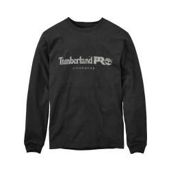 Men's Timberland PRO Core Long Sleeve T-Shirt - Regular Jet Black 35626545