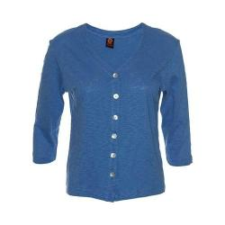 Women's Ojai Clothing Chopped Button Down Cardigan Monaco Blue 35691912