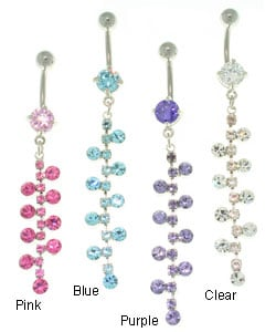 CGC Bubble Gem Chain Belly Barbell
