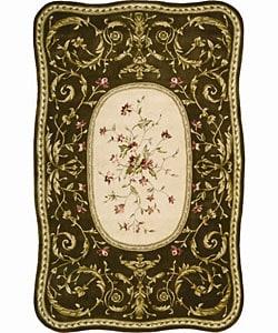 Nourison Hand-tufted Serenata Brown Wool Rug (5'3 x 8'3)