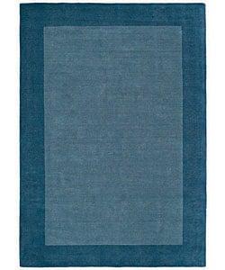 Hand-tufted Royal Blue Wool Rug (8' x 10'6) 3003867
