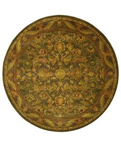 Safavieh Handmade Antiquities Kerman Charcoal Green Wool Rug (3'6 Round)