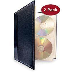 Large CD/ DVD Storage Binder System (Pack of 2)