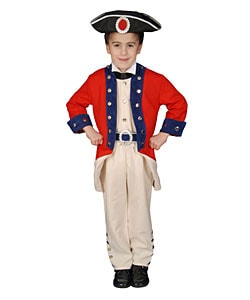 Deluxe Colonial Soldier Children's Costume Set